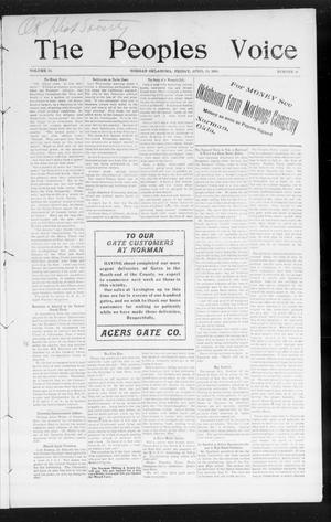 The Peoples Voice (Norman, Okla.), Vol. 14, No. 41, Ed. 1 Friday, April 20, 1906
