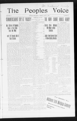 Primary view of object titled 'The Peoples Voice (Norman, Okla.), Vol. 14, No. 49, Ed. 1 Friday, June 15, 1906'.