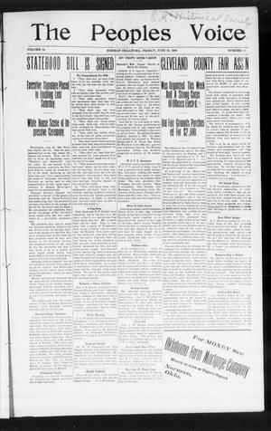 The Peoples Voice (Norman, Okla.), Vol. 14, No. 50, Ed. 1 Friday, June 22, 1906