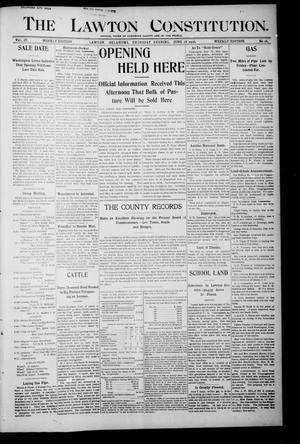 Primary view of object titled 'The Lawton Constitution. (Lawton, Okla.), Vol. 4, No. 16, Ed. 1 Thursday, June 28, 1906'.