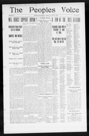 The Peoples Voice (Norman, Okla.), Vol. 15, No. 4, Ed. 1 Friday, August 3, 1906