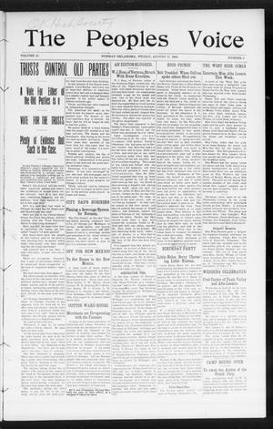 The Peoples Voice (Norman, Okla.), Vol. 15, No. 6, Ed. 1 Friday, August 17, 1906