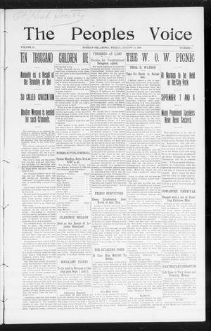 The Peoples Voice (Norman, Okla.), Vol. 15, No. 7, Ed. 1 Friday, August 24, 1906