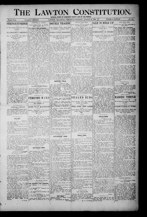 Primary view of object titled 'The Lawton Constitution. (Lawton, Okla.), Vol. 4, No. 25, Ed. 1 Thursday, August 30, 1906'.