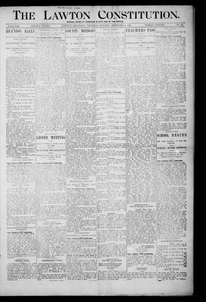 Primary view of object titled 'The Lawton Constitution. (Lawton, Okla.), Vol. 4, No. 26, Ed. 1 Thursday, September 6, 1906'.