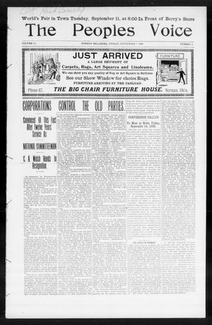 The Peoples Voice (Norman, Okla.), Vol. 15, No. 9, Ed. 1 Friday, September 7, 1906