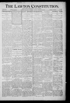 Primary view of object titled 'The Lawton Constitution. (Lawton, Okla.), Vol. 4, No. 28, Ed. 1 Thursday, September 20, 1906'.