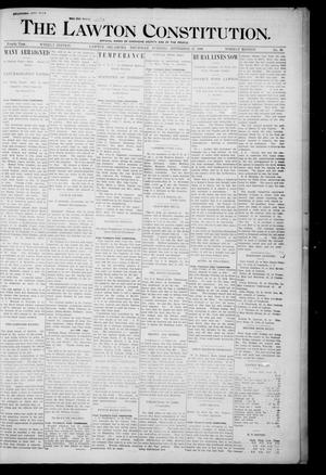 Primary view of object titled 'The Lawton Constitution. (Lawton, Okla.), Vol. 4, No. 26, Ed. 1 Thursday, September 27, 1906'.