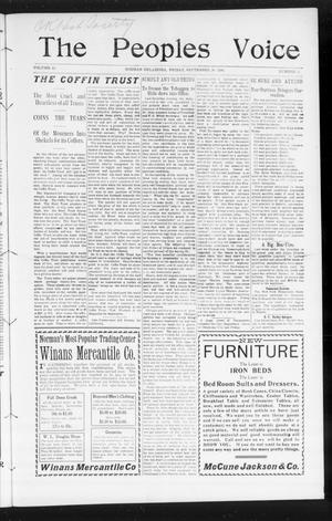The Peoples Voice (Norman, Okla.), Vol. 15, No. 12, Ed. 1 Friday, September 28, 1906
