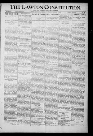 Primary view of object titled 'The Lawton Constitution. (Lawton, Okla.), Vol. 4, No. 29, Ed. 1 Thursday, October 18, 1906'.