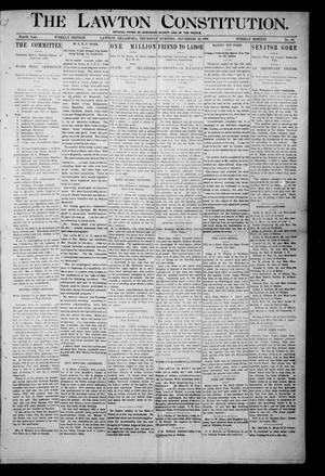 The Lawton Constitution. (Lawton, Okla.), Vol. 4, No. 36, Ed. 1 Thursday, November 29, 1906