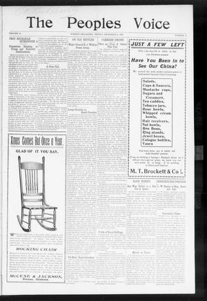 The Peoples Voice (Norman, Okla.), Vol. 15, No. 23, Ed. 1 Friday, December 21, 1906