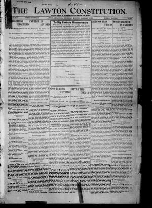 Primary view of object titled 'The Lawton Constitution. (Lawton, Okla.), Vol. 4, No. 40, Ed. 1 Thursday, January 3, 1907'.