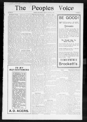 The Peoples Voice (Norman, Okla.), Vol. 15, No. 25, Ed. 1 Friday, January 4, 1907