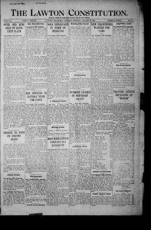 Primary view of The Lawton Constitution. (Lawton, Okla.), Vol. 4, No. 41, Ed. 1 Thursday, January 10, 1907