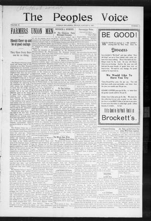 The Peoples Voice (Norman, Okla.), Vol. 15, No. 26, Ed. 1 Friday, January 11, 1907