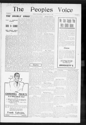 The Peoples Voice (Norman, Okla.), Vol. 15, No. 40, Ed. 1 Friday, April 19, 1907