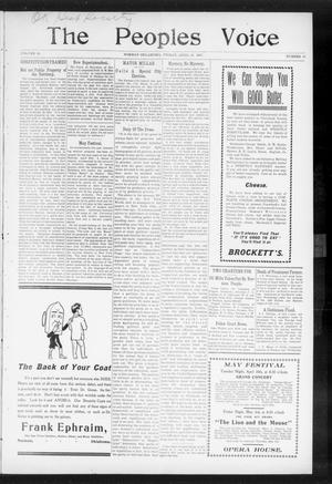 The Peoples Voice (Norman, Okla.), Vol. 15, No. 41, Ed. 1 Friday, April 26, 1907