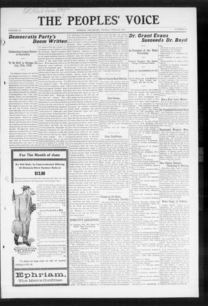 The Peoples' Voice (Norman, Okla.), Vol. 16, No. 50, Ed. 1 Friday, June 26, 1908