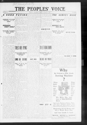 The Peoples' Voice (Norman, Okla.), Vol. 18, No. 6, Ed. 1 Friday, August 20, 1909