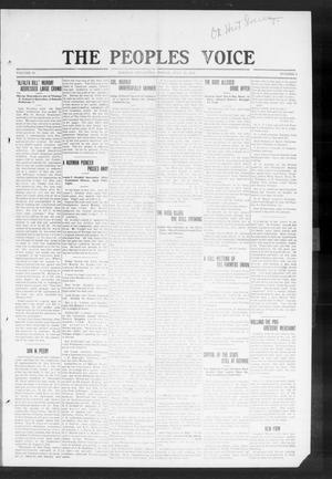 Primary view of object titled 'The Peoples Voice (Norman, Okla.), Vol. 19, No. 4, Ed. 1 Friday, July 29, 1910'.