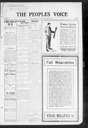 The Peoples Voice (Norman, Okla.), Vol. 19, No. 12, Ed. 1 Friday, September 30, 1910