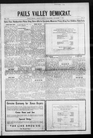Primary view of object titled 'Pauls Valley Democrat. (Pauls Valley, Okla.), Vol. 8, No. 38, Ed. 1 Thursday, December 7, 1911'.