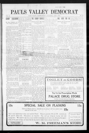Primary view of object titled 'Pauls Valley Democrat (Pauls Valley, Okla.), Vol. 9, No. 12, Ed. 1 Thursday, June 6, 1912'.