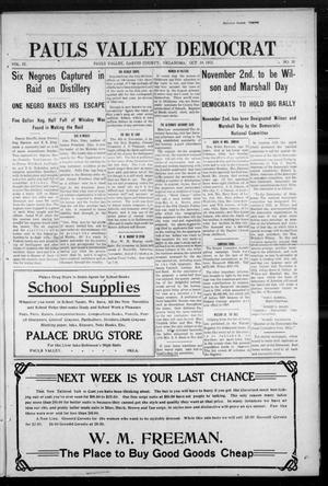Primary view of object titled 'Pauls Valley Democrat (Pauls Valley, Okla.), Vol. 9, No. 32, Ed. 1 Thursday, October 24, 1912'.