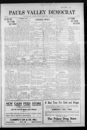 Primary view of object titled 'Pauls Valley Democrat (Pauls Valley, Okla.), Vol. 11, No. 1, Ed. 1 Thursday, March 19, 1914'.