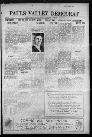 Primary view of object titled 'Pauls Valley Democrat (Pauls Valley, Okla.), Vol. 11, No. 12, Ed. 1 Thursday, June 4, 1914'.