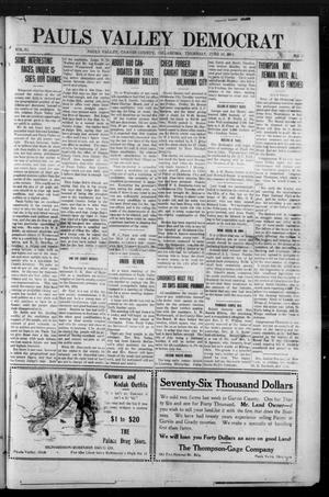 Primary view of object titled 'Pauls Valley Democrat (Pauls Valley, Okla.), Vol. 11, No. 15, Ed. 1 Thursday, June 25, 1914'.