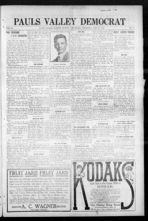 Primary view of object titled 'Pauls Valley Democrat (Pauls Valley, Okla.), Vol. 12, No. 20, Ed. 1 Thursday, July 29, 1915'.