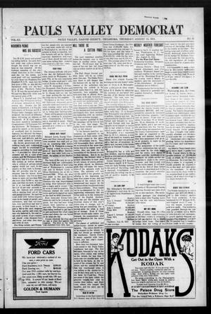 Primary view of object titled 'Pauls Valley Democrat (Pauls Valley, Okla.), Vol. 12, No. 22, Ed. 1 Thursday, August 12, 1915'.