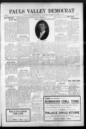Primary view of object titled 'Pauls Valley Democrat (Pauls Valley, Okla.), Vol. 12, No. 31, Ed. 1 Thursday, October 14, 1915'.