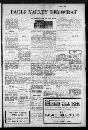 Primary view of object titled 'Pauls Valley Democrat (Pauls Valley, Okla.), Vol. 12, No. 38, Ed. 1 Thursday, December 2, 1915'.
