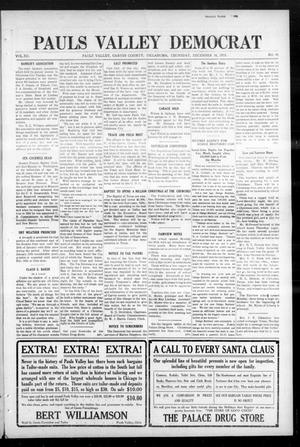 Primary view of object titled 'Pauls Valley Democrat (Pauls Valley, Okla.), Vol. 12, No. 40, Ed. 1 Thursday, December 16, 1915'.