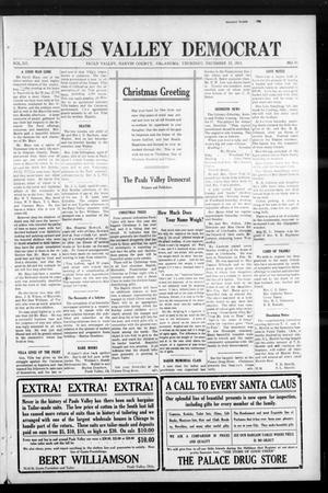 Primary view of object titled 'Pauls Valley Democrat (Pauls Valley, Okla.), Vol. 12, No. 41, Ed. 1 Thursday, December 23, 1915'.