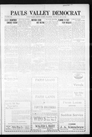 Primary view of object titled 'Pauls Valley Democrat (Pauls Valley, Okla.), Vol. 17, No. 10, Ed. 1 Thursday, May 13, 1920'.