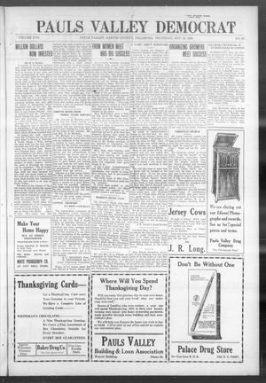 Primary view of object titled 'Pauls Valley Democrat (Pauls Valley, Okla.), Vol. 17, No. 38, Ed. 1 Thursday, November 25, 1920'.