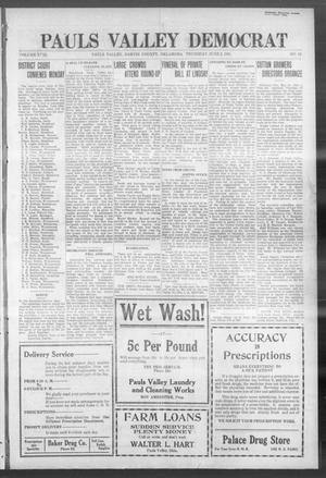Primary view of object titled 'Pauls Valley Democrat (Pauls Valley, Okla.), Vol. 18, No. 13, Ed. 1 Thursday, June 2, 1921'.
