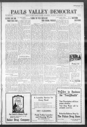 Primary view of object titled 'Pauls Valley Democrat (Pauls Valley, Okla.), Vol. 18, No. 38, Ed. 1 Thursday, December 1, 1921'.