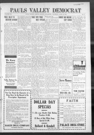 Primary view of object titled 'Pauls Valley Democrat (Pauls Valley, Okla.), Vol. 18, No. 5, Ed. 1 Thursday, April 13, 1922'.