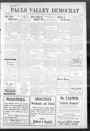 Primary view of object titled 'Pauls Valley Democrat (Pauls Valley, Okla.), Vol. 18, No. 20, Ed. 1 Thursday, July 20, 1922'.