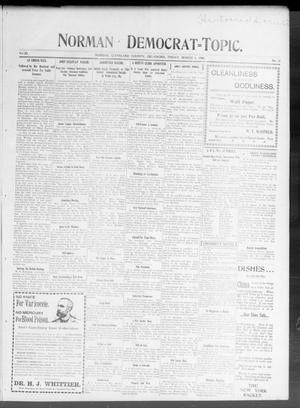 Primary view of object titled 'Norman Democrat--Topic. (Norman, Okla.), Vol. 11, No. 31, Ed. 1 Friday, March 9, 1900'.