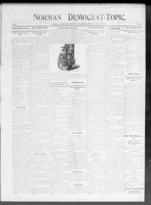 Primary view of Norman Democrat--Topic. (Norman, Okla.), Vol. 11, No. 48, Ed. 1 Friday, June 29, 1900
