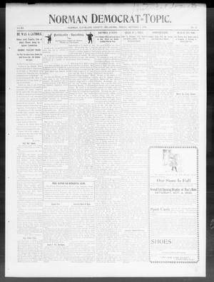 Primary view of Norman Democrat--Topic. (Norman, Okla.), Vol. 12, No. 10, Ed. 1 Friday, October 5, 1900