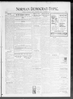 Primary view of Norman Democrat--Topic. (Norman, Okla.), Vol. 12, No. 18, Ed. 1 Friday, November 30, 1900