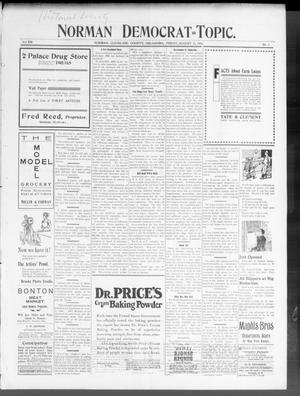 Primary view of Norman Democrat--Topic. (Norman, Okla.), Vol. 14, No. 3, Ed. 1 Friday, August 15, 1902