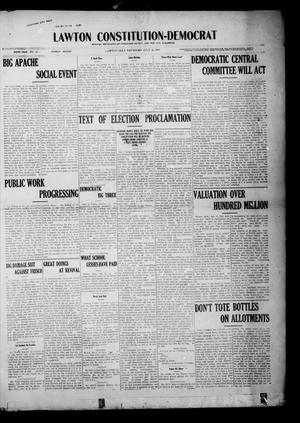 Primary view of object titled 'Lawton Constitution-Democrat (Lawton, Okla.), Vol. 6, No. 12, Ed. 1 Thursday, July 25, 1907'.